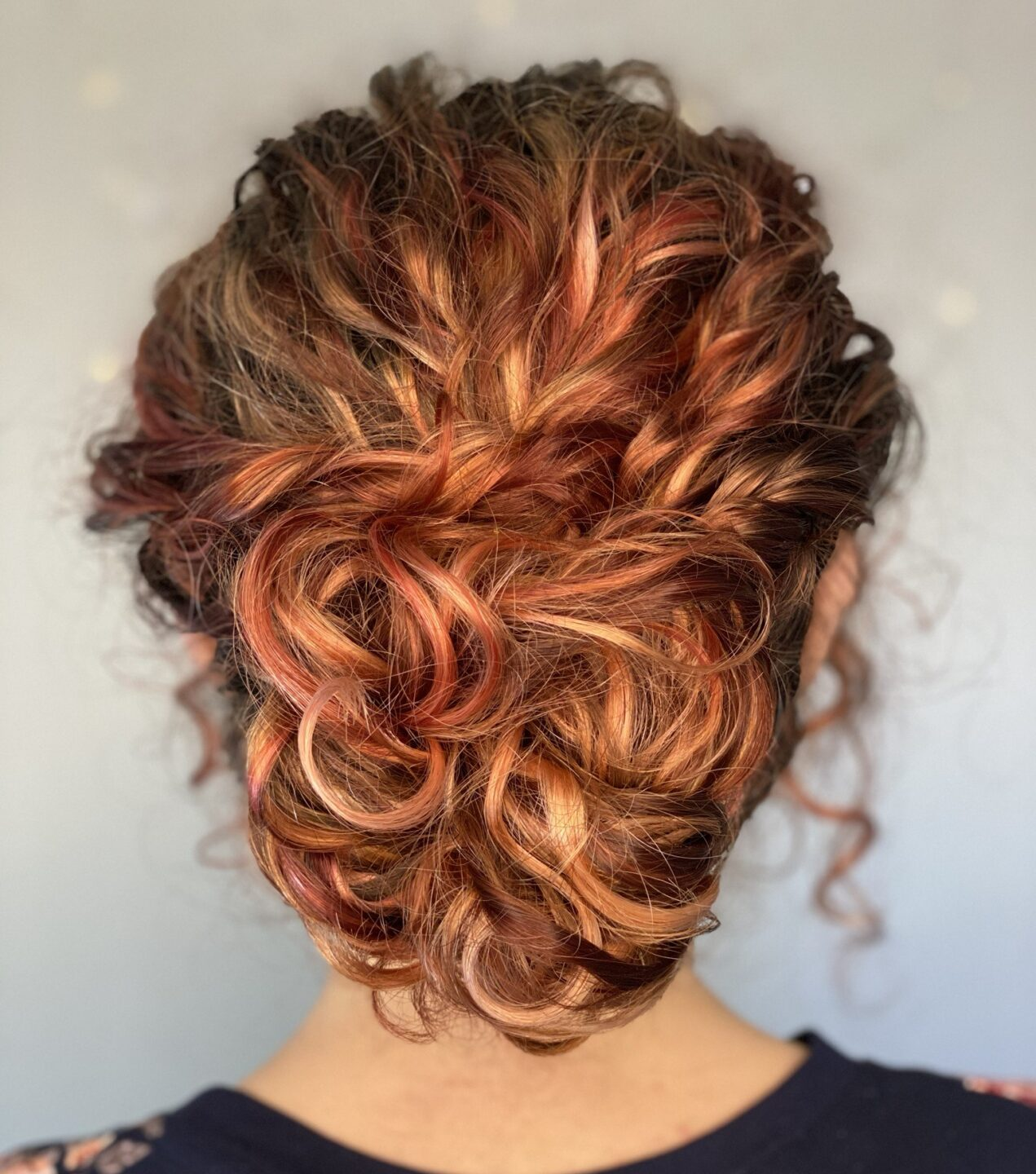 curly hair up-do by Curl Guru Shenara De Silva