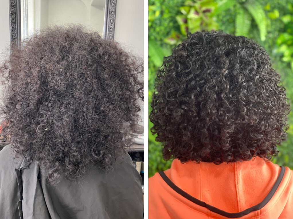 before and after curl transformation photo by Shenara De Silva