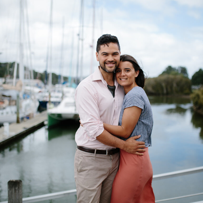 Modern Rituals owner Jesse with her husband in front of water